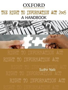 Book The Right to Information Act, 2005: A Handbook by Sudhir Naib