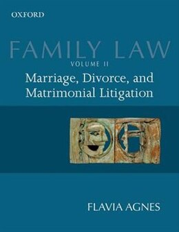 Book Family Law II: Marriage, Divorce, and Matrimonial Litigation by Flavia Agnes