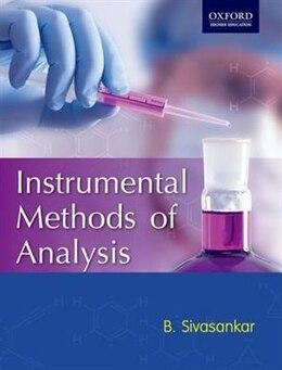 Book Instrumental Methods of Analysis by B. Sivasankar