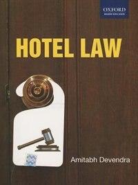 Book Hotel Law by Amitabh Devendra