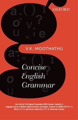 Book Concise English Grammar by V. K. Moothathu