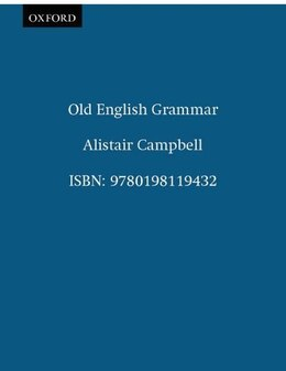 Book Old English Grammar by Alistair Campbell