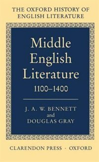 Book Middle English Literature 1100-1400 by J. A. W. Bennett