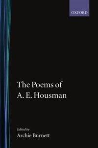 Book The Poems of A. E. Housman by A. E. Housman