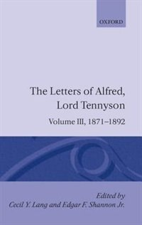 Book The Letters of Alfred Lord Tennyson: Volume III: 1871-1892 by Alfred, Lord Tennyson