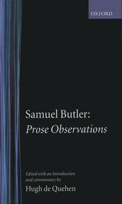 Book Prose Observations by Samuel Butler