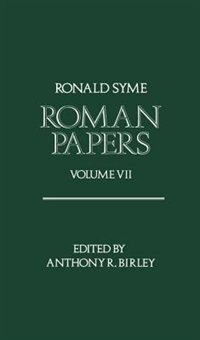 Book Roman Papers Volume VII by Ronald Syme