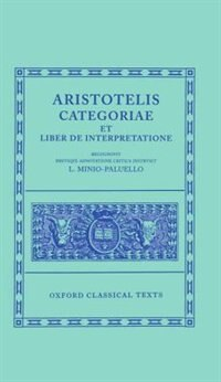 Book Aristotle Categoriae et Liber de Interpretatione by L. Minio-Paluello