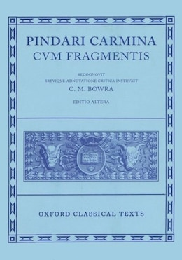 Book Pindar Carmina by Maurice Bowra