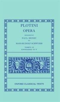 Book Plotinus II. Enneades IV et V by Paul Henry