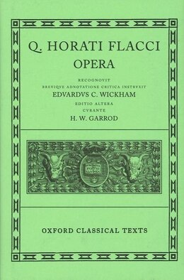 Book Horace Opera by H. W. Garrod