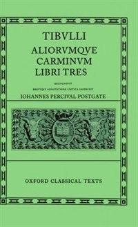 Book Tibullus Carmina by J. P. Postgate