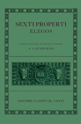 Book Sexti Properti Elegi by S. J. Heyworth