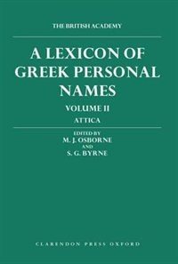 Book A Lexicon of Greek Personal Names: Volume II: Attica by P. M. Fraser