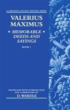 Valerius Maximus Memorable Deeds and Sayings Book 1