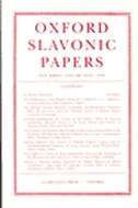 Book Oxford Slavonic Papers: New Series Volume XXXI (1998) by C. M. MacRobert
