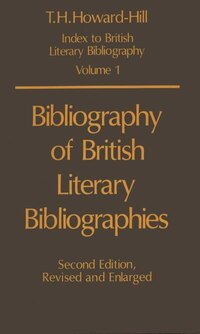 Bibliography of British Literary Bibliographies