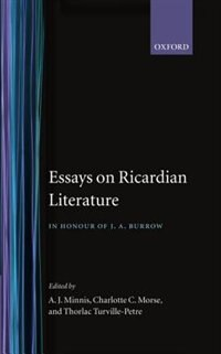 Book Essays on Ricardian Literature: In Honour of J.A. Burrow by A. J. Minnis