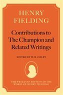 Book Henry Fielding: Contributions to The Champion, and Related Writings by Henry Fielding
