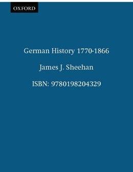 Book German History 1770-1866 by James J. Sheehan