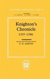 Book Knightons Chronicle 1337-1396 by Henry Knighton