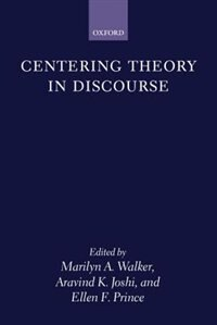 Book Centering Theory in Discourse by Marilyn Walker