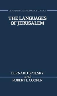 Book The Languages of Jerusalem by Bernard Spolsky