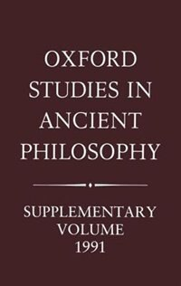 Book Aristotle and the Later Tradition: Oxford Studies in Ancient Philosophy, Supplementary Volume 1991 by Henry Blumenthal