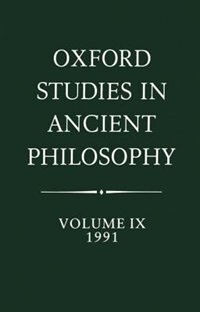 Book Oxford Studies in Ancient Philosophy: Volume IX: 1991 by Julia Annas