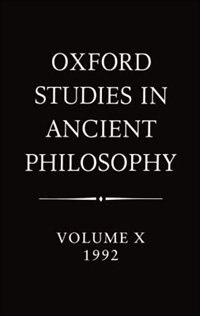 Book Oxford Studies in Ancient Philosophy: Volume X: 1992 by Julia Annas