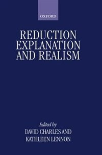 Book Reduction, Explanation, and Realism by David Charles