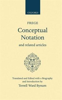 Book Conceptual Notation and Related Articles by Gottlob Frege