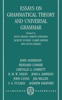 Book Essays on Grammatical Theory and Universal Grammar by Doug Arnold