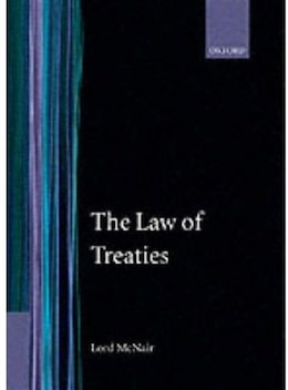 Book The Law of Treaties by Lord McNair