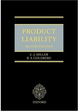 Book Product Liability by C J Miller