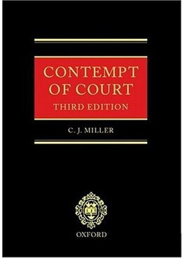 Book Contempt of Court by C. J. Miller
