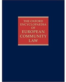 Book The Oxford Encyclopaedia of European Community Law: Volume III: Competition Law and Policy by A G Toth