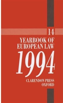 Book Yearbook of European Law: Volume 14: 1994 by Joan Wyatt