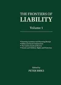 Book Frontiers of Liability: Volume 1 by P. B. H. Birks