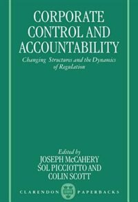 Book Corporate Control and Accountability: Changing Structures and the Dynamics of Regulation by Joseph McCahery