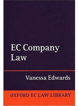 Book EC Company Law by Vanessa Edwards