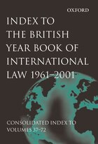 Index to British Year Book of International Law 1961-2001