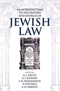 Book An Introduction to the History and Sources of Jewish Law by N. S. Hecht