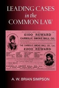 Book Leading Cases in the Common Law by A. W. Brian Simpson