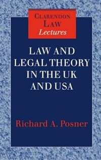 Book Law and Legal Theory in England and America by Richard A. Posner