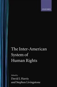 Book The Inter-American System of Human Rights by David J. Harris