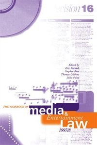 Book The Yearbook of Media and Entertainment Law: Volume 3, 1997/98: Media & Entertainment Law - Th by Eric M. Barendt