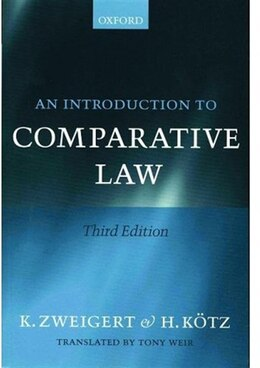 Book An Introduction to Comparative Law by Konrad Zweigert