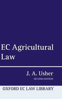 Book EC Agricultural Law by John A. Usher