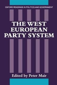 Book The West European Party System by Peter Mair